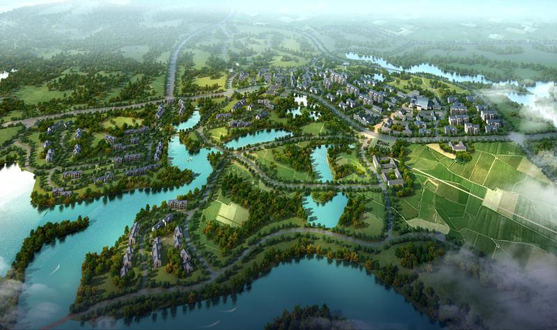 广西南宁东盟经济开发区山水田园小镇