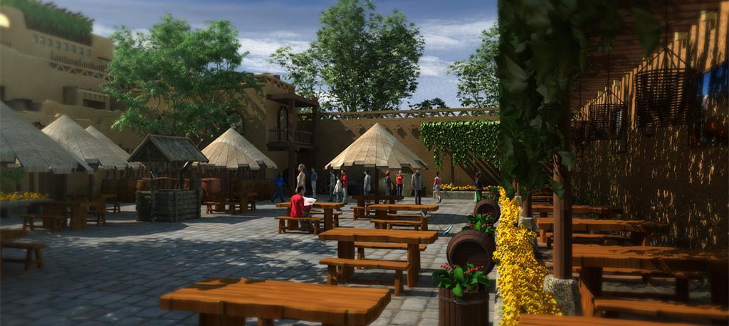 新疆鄯善蒲昌村文化街区